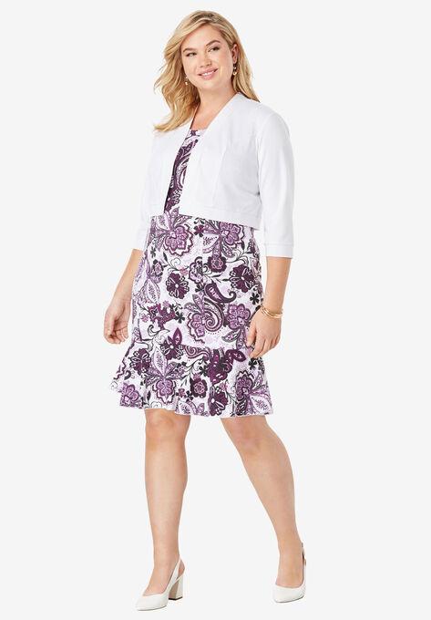 Ponte Jacket Dress| Plus Size Work Dresses | Roaman\'s