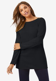 Boatneck Tunic Sweater,