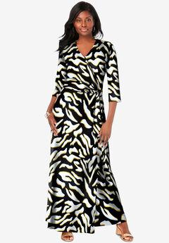 Faux Wrap Maxi Dress,