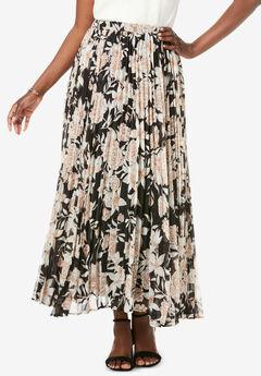 Pleated Maxi Skirt,