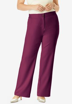Tummy Control Bi-Stretch Bootcut Pant, DARK BERRY