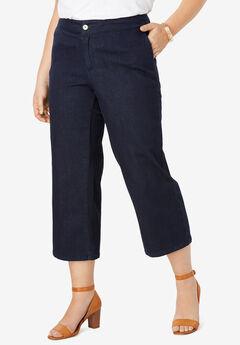 Cropped Straight Leg Jeans, INDIGO
