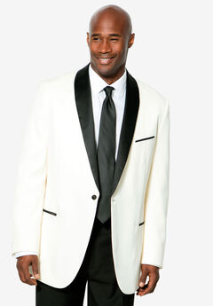 KS Signature Tuxedo Jacket, WHITE