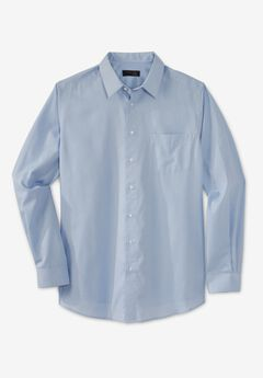 KS Signature No Hassle® Long-Sleeve Dress Shirt, SKY BLUE HOUNDSTOOTH