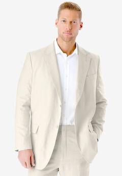 KS Island™ Linen Blend Two-Button Suit Jacket, WHITE