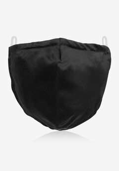 2-Layer Extra Large Reusable Cotton Face Mask - Men's, BLACK