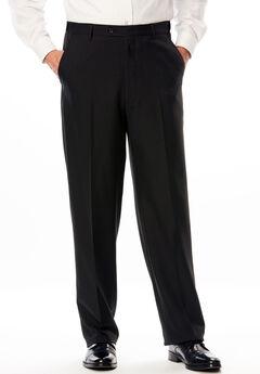 KS Signature Easy Movement® Plain Front Expandable Suit Separate Dress Pants, BLACK