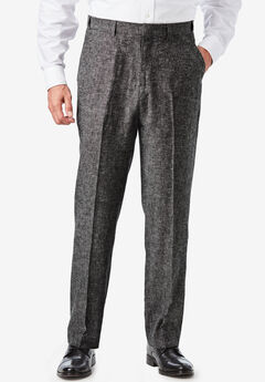 KS Island™ Linen Blend Plain Front Dress Pants,