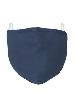 2-Layer Extra Large Reusable Cotton Face Mask - Men's, NAVY