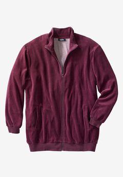 Velour Full-Zip Jacket,