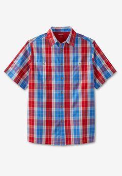 Short-Sleeve Plaid Sport Shirt,