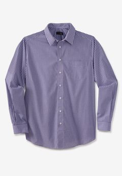 KS Signature No Hassle® Long-Sleeve Dress Shirt, PURPLE CHECK