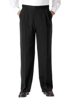 KS Signature No Hassle® Classic Fit Expandable Waist Double-Pleat Dress Pants,
