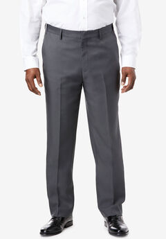 KS Signature Easy Movement® Plain Front Expandable Suit Separate Dress Pants, GREY
