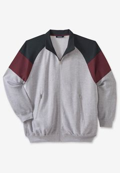 KS Sport™ Color Block Full Zip Track Jacket,