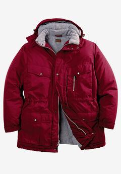 Boulder Creek® Fleece-Lined Parka with Detachable Hood and 6 Pockets,