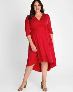 Winona Hi-Lo Wrap Dress,
