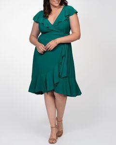 Phoebe Flounce Wrap Dress,