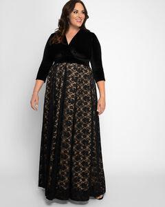 Victoria Velvet Evening Gown,