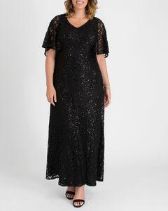 Celestial Cape Sleeve Gown,