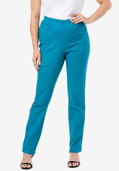 Straight-Leg Pull-On Stretch Jean by Denim 24/7®, DEEP TEAL