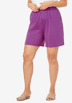 Soft Knit Shorts, PURPLE MAGENTA