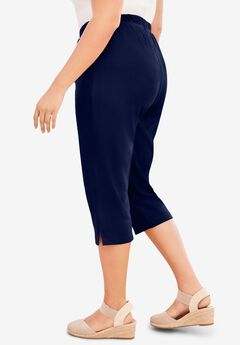 Soft Knit Capri Pant, NAVY