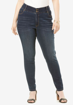 The Skinny-Leg Curvy Jean by Denim 24/7®, DARK WASH