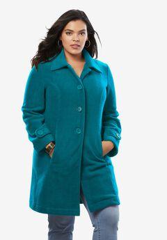 Plush Fleece Jacket, DEEP LAGOON