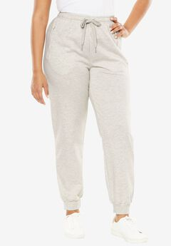 Zip Track Pant, HEATHER OATMEAL, hi-res