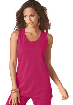 Scoopneck Tank, BRIGHT CHERRY, hi-res