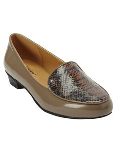 Elena Flats by Comfortview, DARK TAUPE SNAKE PRINT, hi-res