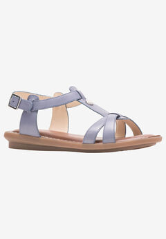 Olive T-Strap Sandal by Hush Puppies®,