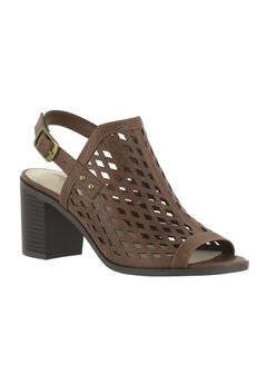 Erin Sandals by Easy Street®, BROWN BURNISH