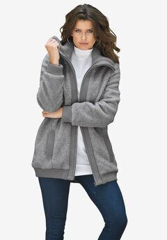 Fleece Bomber Coat,