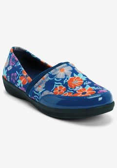 The Manon Rain Flat By Comfortview®, BLUE FLORAL
