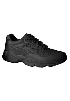 The Stability Sneaker by Propet®, BLACK LEATHER