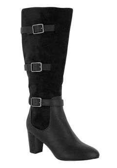 Talina II Plus Wide Calf Boots by Bella Vita®, BLACK