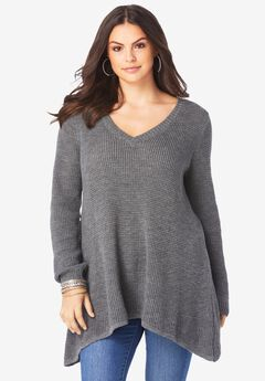 V-Neck Thermal Pullover,