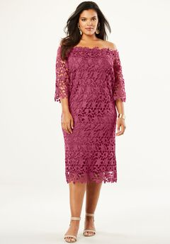 Off -The-Shoulder Lace Dress, RUBY ROSE