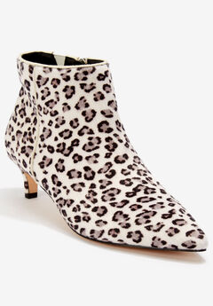 The Meredith Bootie by Comfortview®, SNOW LEOPARD