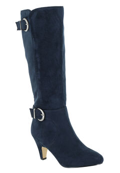Toni II Wide Calf Boots by Bella Vita®, NAVY SUPER SUEDE