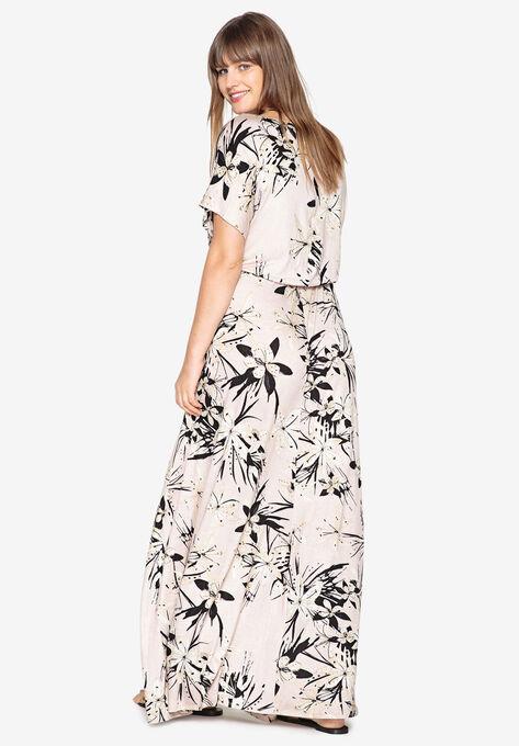 48df89ba80 Side-Tie Maxi Dress by Castaluna| Plus Size Maxi Dresses | Roaman's