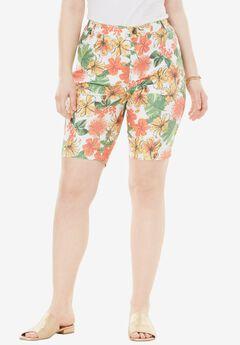 Denim Shorts by Denim 24/7, TROPICAL PRINT, hi-res