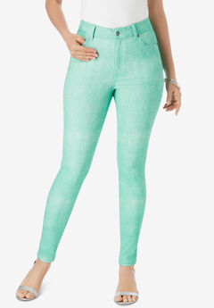 Skinny Jean with Invisible Stretch® by Denim 24/7®, TROPICAL EMERALD ACID