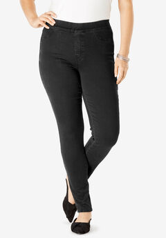 The No-Gap Jegging by Denim 24/7®, BLACK