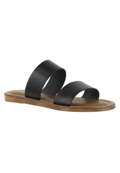 Imo-Italy Sandals by Bella Vita®, BLACK LEATHER