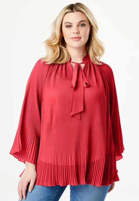 bf4a05e160f Bell Sleeve Bow Blouse