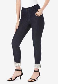 Pearl Cuff Skinny Jean,