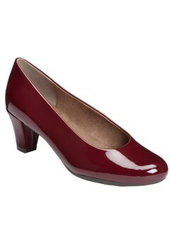 Shore Thing Pumps by Aerosoles®, DARK RED PATENT, hi-res